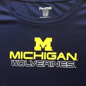 Michigan Wolverines ProEdge XL Wicking T-shirt